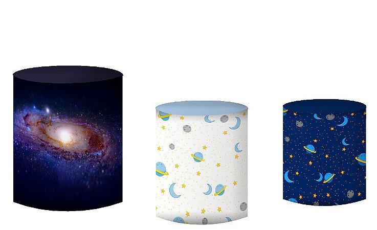 Kit Capas de Cilindro de festa em tecido sublimado Príncipe Galáxias