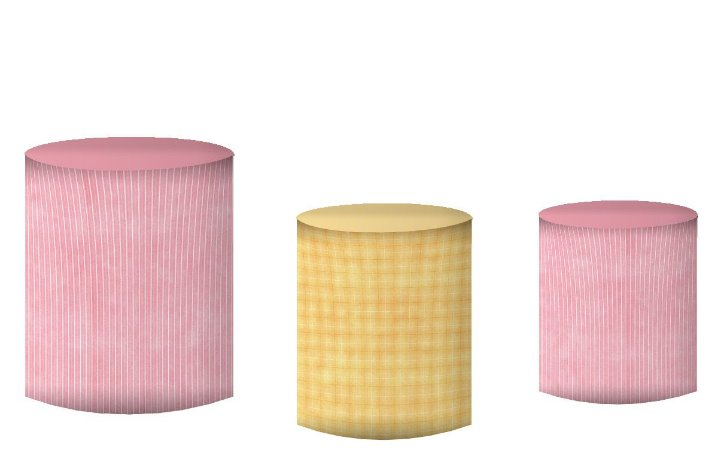 Kit Capas de Cilindro de festa em tecido sublimado Safari Bebe