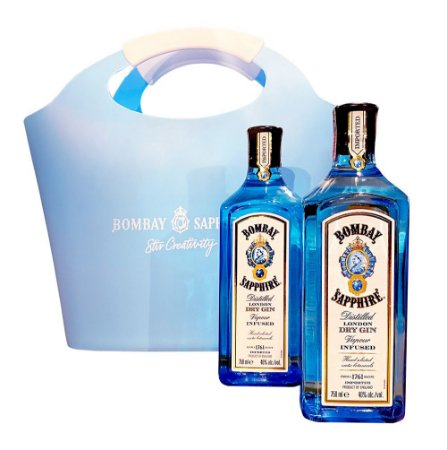 Kit 2 Gin Bombay Sapphire 750ML + Cooler Bag Exclusiva