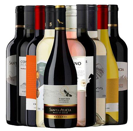 Kit 10 Vinhos Mix - 750ML