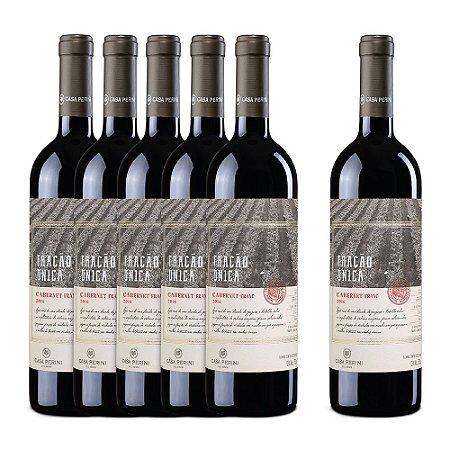 Kit 5 Vinhos Casa Perini Fração Única Cabernet Franc Ganhe + 1 Casa Perini Fração Única Cabernet Franc