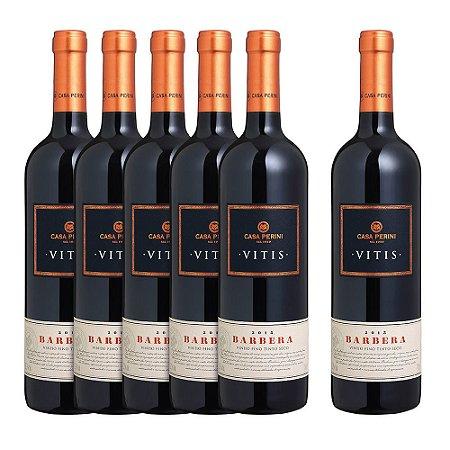 Kit 5 Vinhos Casa Perini Vitis Barbera e Ganhe + 1 Vitis Barbera - 750ml