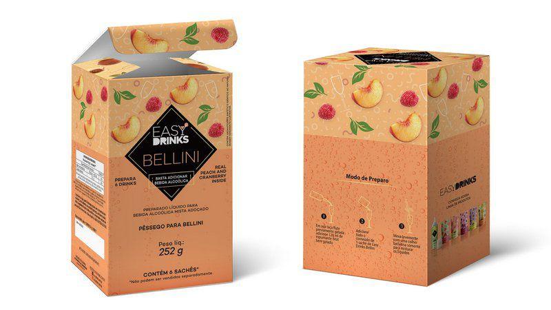 PREPARADO EASY DRINKS CLÁSSICO - Bellini Drink - 252g - 6und