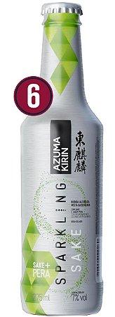 Saquê Azuma Sparkling Pear Cx 6 unid - 275ml