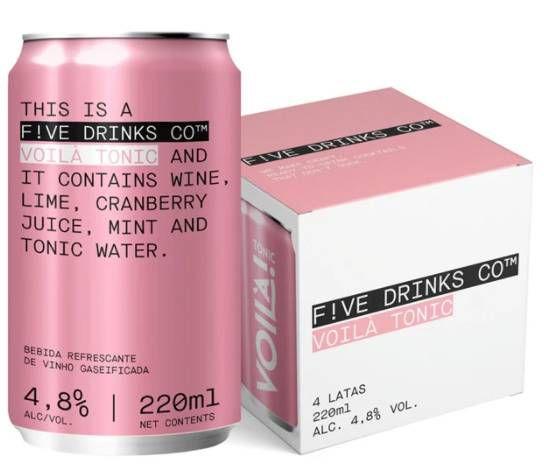 F!ve Drinks Co. - Voilá Tonic - 4 UND 220ML