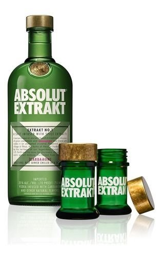Absolut Extrakt + 2 Copos de Shot - 750ml