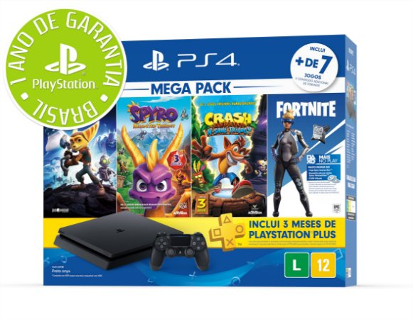 PLAYSTATION 4 - 1TB - MEGA PACK FAMILY BUNDLE