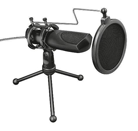 Microfone Streaming GXT 232 Mantis USB com tripé para fluxos no YouTube, Twitch e Facebook - PC e Laptop - Trust