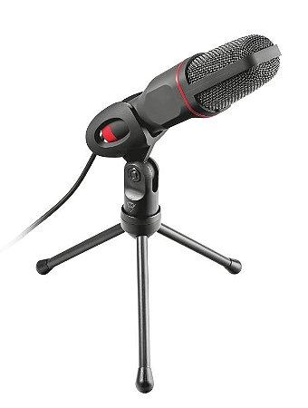 Microfone USB de Alto Desempenho com Tripé Compatível com Ligações de 3,5 mm e USB GXT 212 Mico - Trust