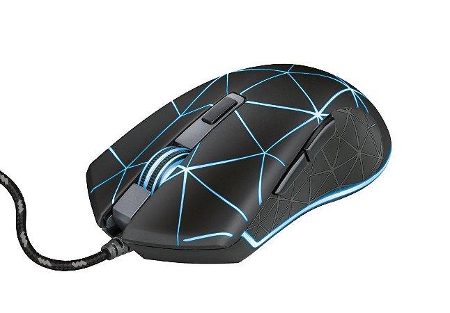 Mouse Gamer LED GXT 133 Locx 4000dpi, 6 botões e Formato Ambidestro - Trust