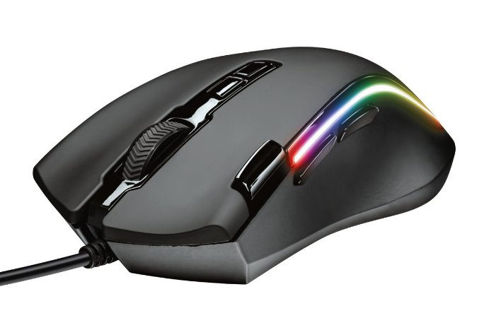 Mouse Gamer RGB TRUST GXT 188 Laban, sensor Pixart PMW3360, 15.000dpi, Memória interna, 8 botões programáveis