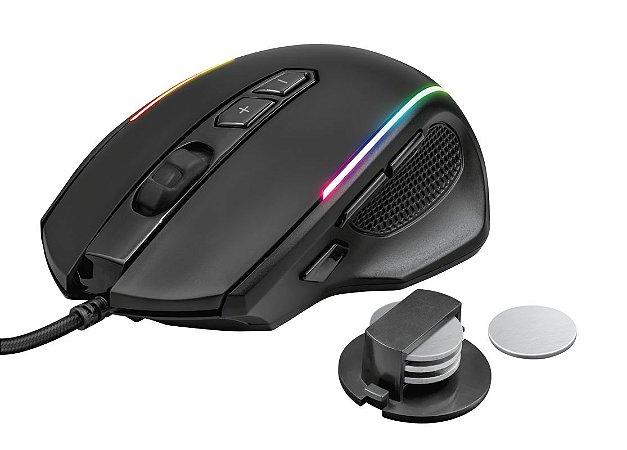 Mouse Gamer RGB GXT 165 Celox 10.000dpi 8 botões Peso Ajustável - Trust