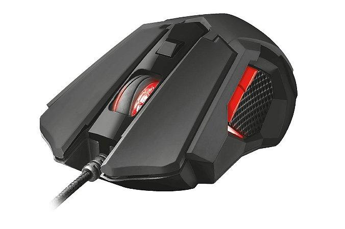 Mouse Gamer GXT 148 Orna 3200dpi, 6 cores de LED ajustáveis, 8 botões, Memória Interna e Design Ambidestro – PC e Laptop - Trust