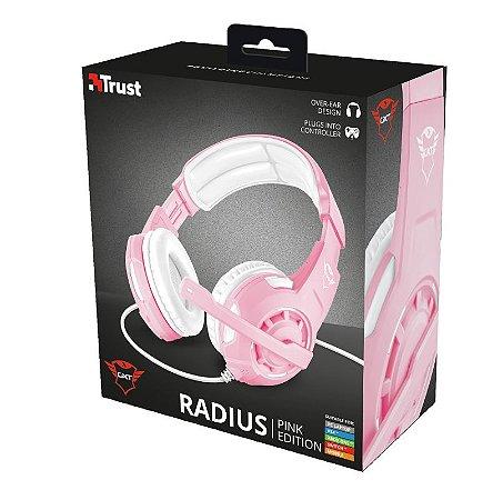Headset Trust GXT310P Radius Pink Edition