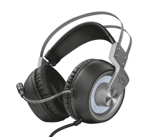 Headset Gamer 7.1 Surround GXT 4376 Ruptor Iluminado - PC e Laptop - Trust
