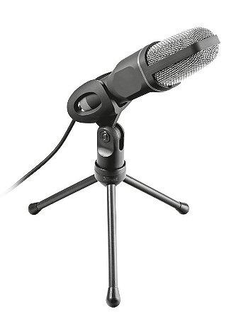 Microfone USB Streamer de Alto Desempenho Estilo Estúdio com Tripé - PC e Laptop - Voxa 22810 - Trust