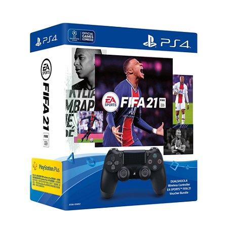 DUALSHOCK 4 PRETO FIFA 21 BUNDLE