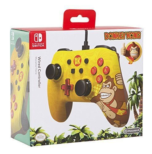 NINTENDO SWITCH PRO CONTROLLER WIRED: DONKEY KONG
