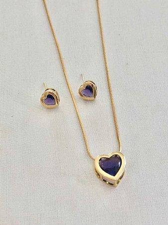 Conjunto Coração Púrpura