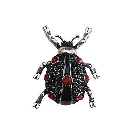 Broche Ladybug Prata