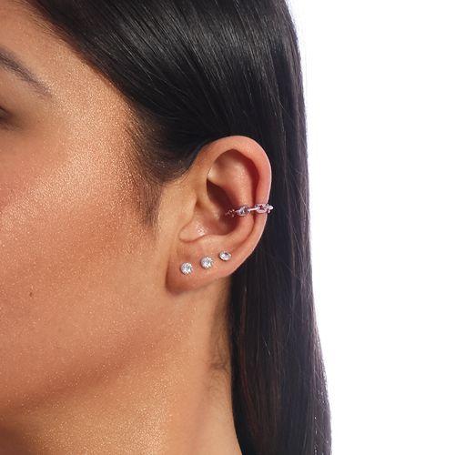 Piercing Duplo Inspiração Cartier Pink