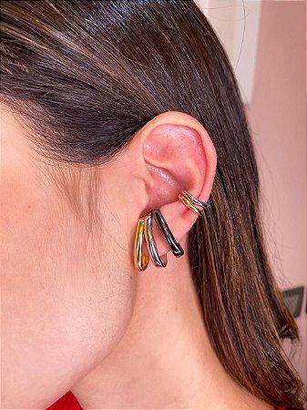 Brinco Ear Hook de Encaixe Oval