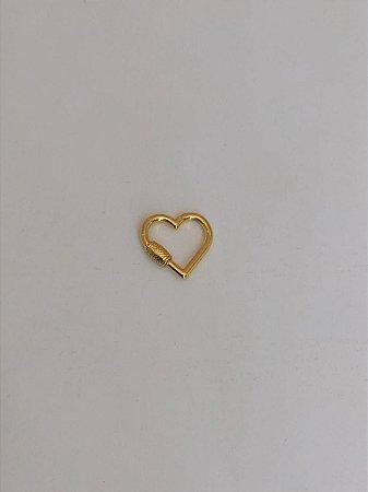 Mosquetão Coração Dourado