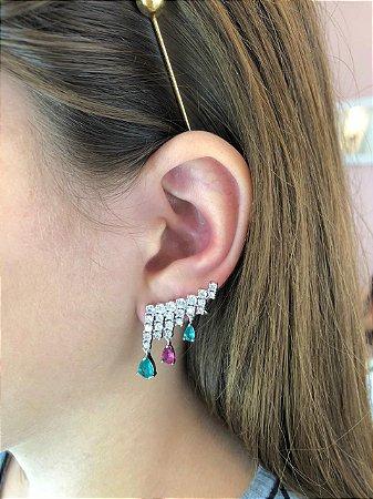 Brinco Ear Cuff Gotinhas