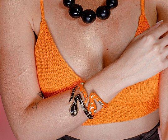 Bracelete Cobra Esmaltado