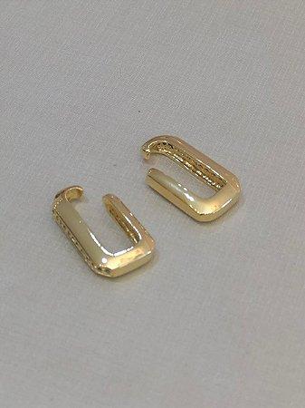 Brinco Ear Hook De Encaixe Dourado Maior
