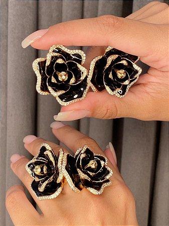 Anel Esmaltado Rose