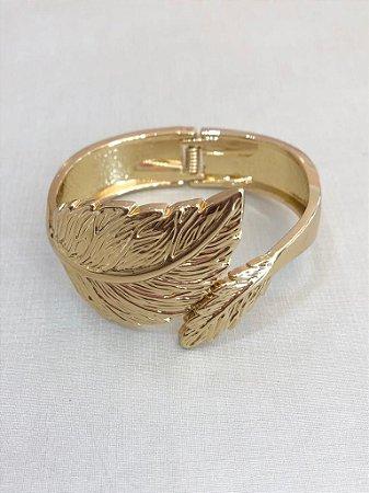 Bracelete Folha Dourado