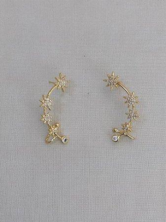 Ear Cuff Estrela Cristal