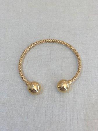 Bracelete Aberto Bolas