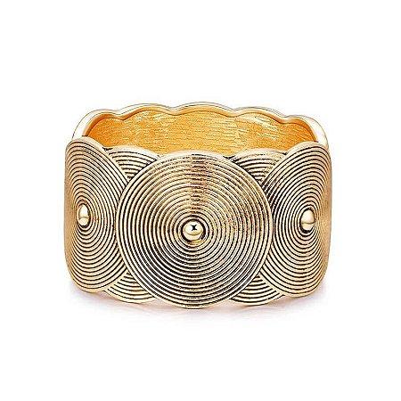 Bracelete Oval Ouro Velho