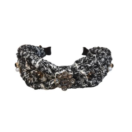 Tiara Turbante Tweed Joias