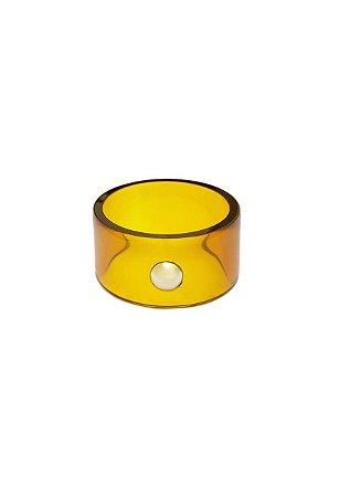 Bracelete Resina Amarelo Energia