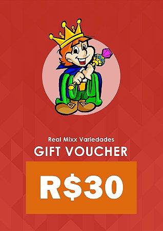 Gift Voucher - R$ 30