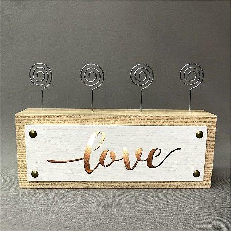 Porta-fotos Love