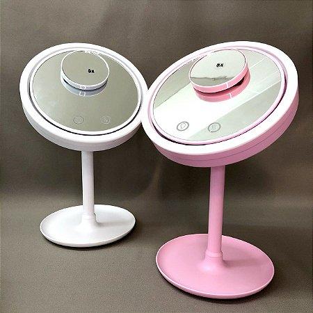 Espelho Vento Seca Maquiagem com Led