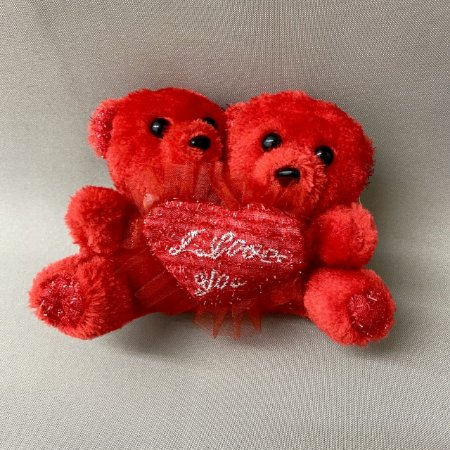 Urso de Pelúcia Duplo I Love You
