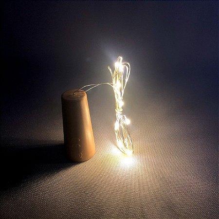 Luz de Fada LED Rolha 01 Metro com bateria