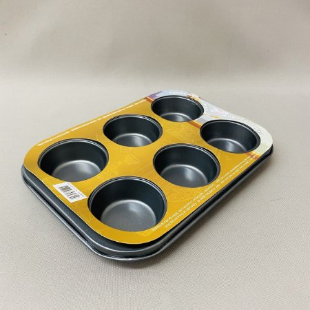 Forma Antiaderente Para 6 Cup Cakes/Muffin Nº2
