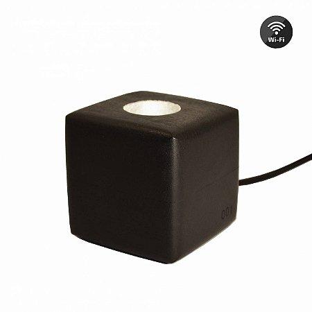 Luminária Cubo Ebanizada (Wifi)