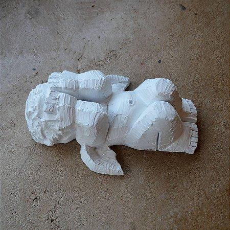 Anjo Escondido Branco Fosco - Pequeno