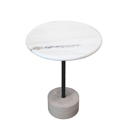 Mesa Lateral Disco - Mármore