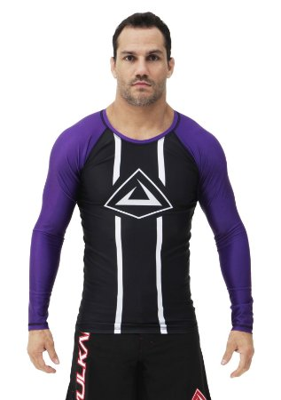 RASH GUARD VULKAN CHALLENGE ML ROXA