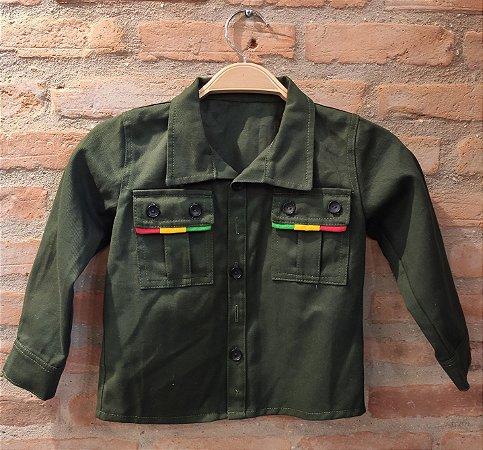 Camisa Sarja Verde Reggae - Kids Belli Roots