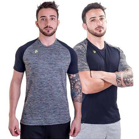 Kit 2 Camisetas Punnto Masculina Manga Curta Raglan Poliamida