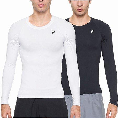 Kit Camisetas Térmicas Punnto Masculina Manga Longa Poliamida